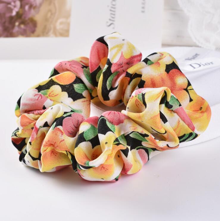 Fashion New Hair Rope Korean jewelry Hair Accessories floral Chiffon fabric hair band head flower headdress wholesale(China (Mainland))