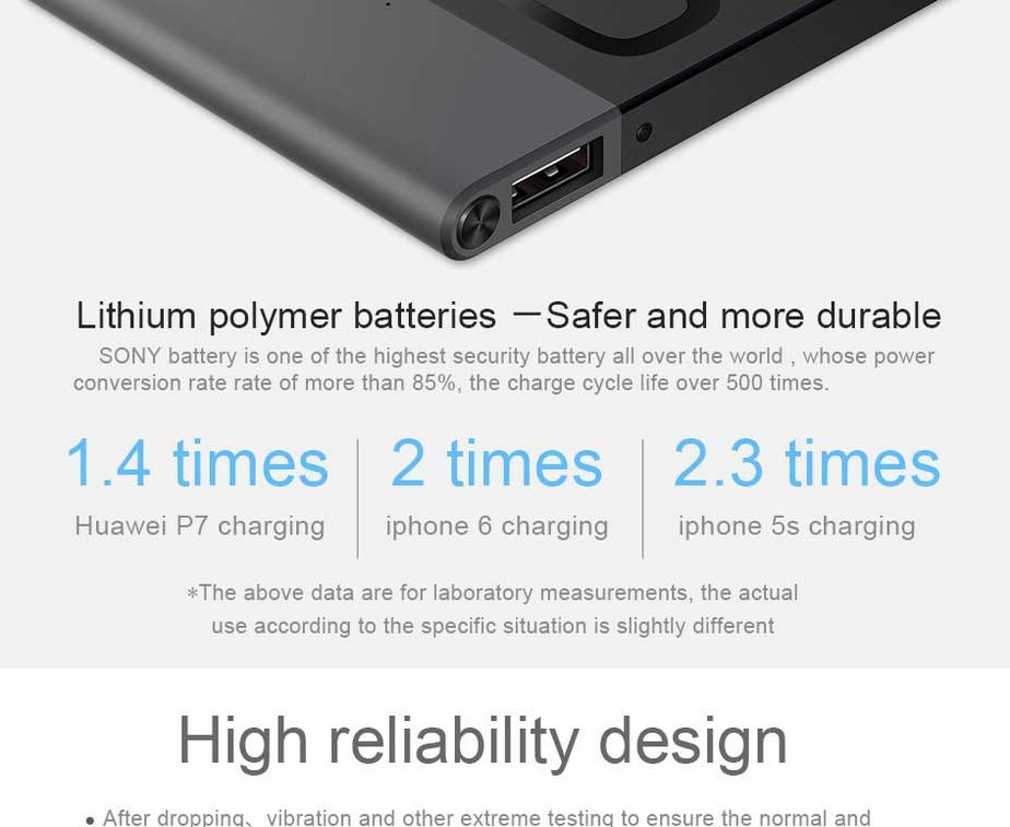 100% Original Huawei 5V 2A 5000mAh Power Bank Portable High Quality Emergency Battery Backup Power Ultra thin Charger