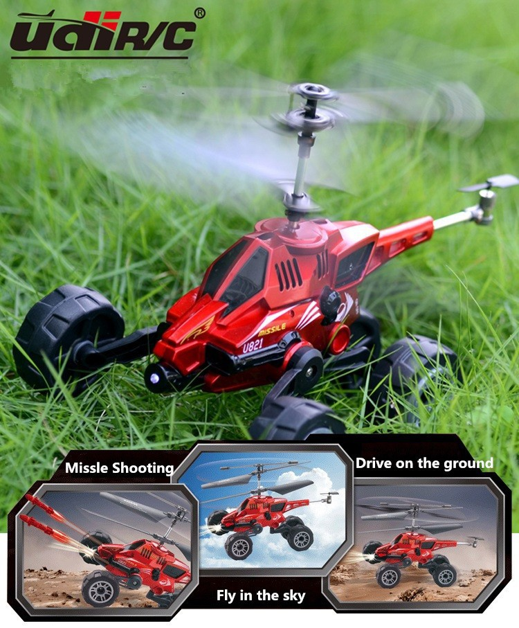 UDI U821 4CH Multi-function RC Helicopter Quadcopter 3.5CHmulti-purpose vehicles flying Electronic Model box free shipping(China (Mainland))