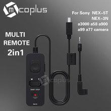 Mcoplus fotga rm-vs1 cable de control remoto disparador para sony rx10 hx50 hx60 a7r a7s a350 a550 a580 a77 nex-3n