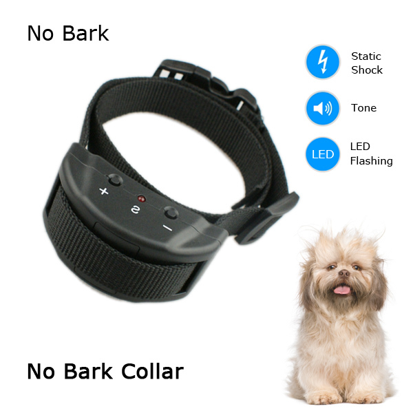 Free Shipping Petaliner No Bark Controller Pet Goods Anti Bark Collar Device With Warning Sound And Static Shock(China (Mainland))