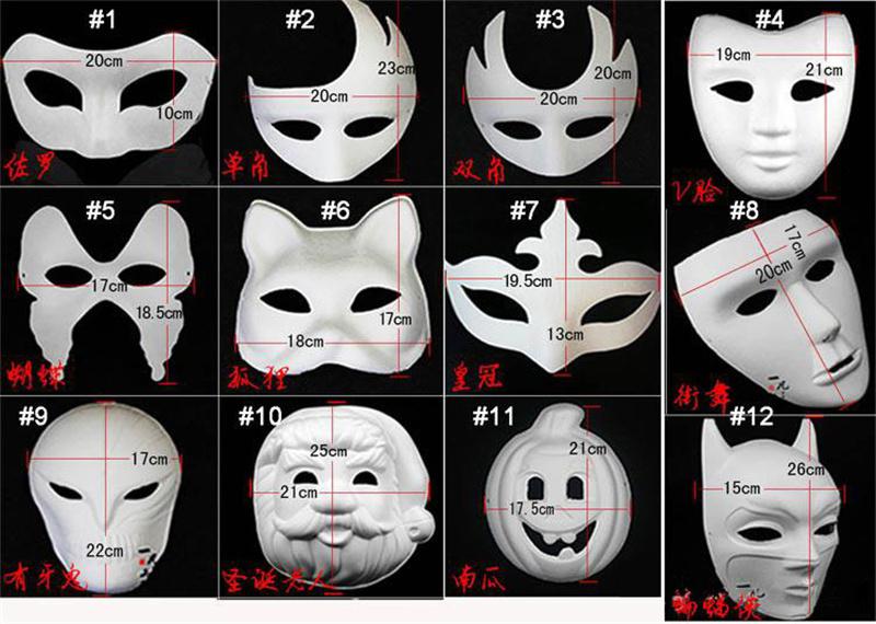 Diy Mask Hand Painted Halloween White Face Mask Zorro