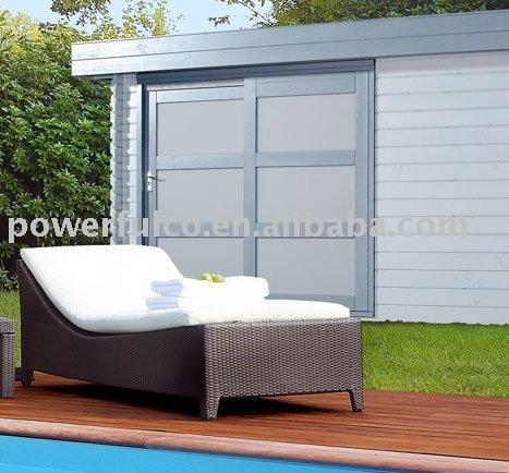wicker lounger/garden rattan lounger/rattan furniture