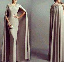 E-Marry New Style O Neck Prom Dress with Cloak Saudi Arabia Style Lady Formal Evening Dress 2016(China (Mainland))