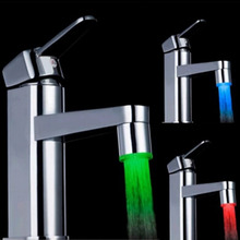 20pcs LED Water Faucet Light 7 Colors Changing Glow Shower Stream Tap  FreeShipping Brand New