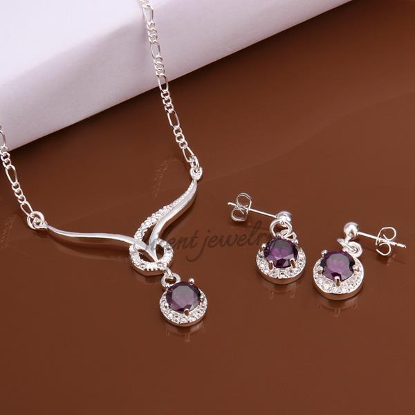 free shipping S603 2015 Wholesale White stone necklace earrings jewelry sets Fashion latest products in market(China (Mainland))