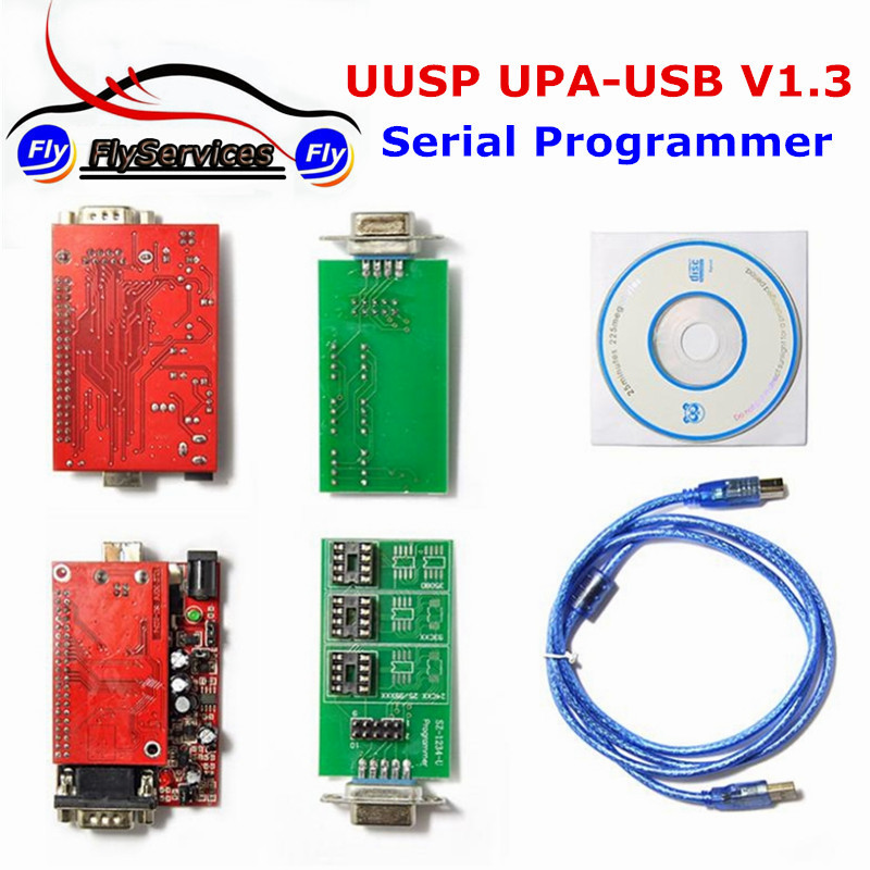 5PCS/LOT High Quality UUSP UPA USB Programmer V1.3 Support Multi-Type Eeproms&Microchip UPA-USB Serial Programmer ECU Tool(China (Mainland))