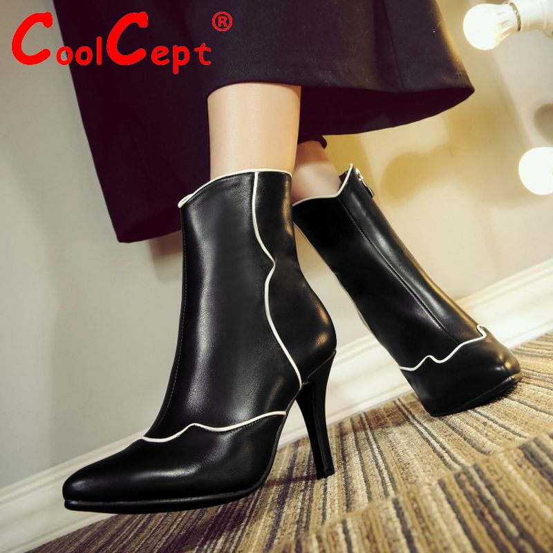 size 33-42 women high heel ankle boots autumn winter warm snow boot sexy wedding botas brand quality heels footwear shoes P21242<br><br>Aliexpress