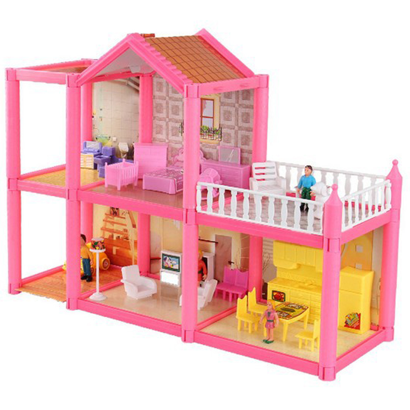 Doll House Large Furniture Miniatures DIY Doll Houses Miniature Doll Houses Wooden Handmade Toys for Children Birthday Gifts Toy(China (Mainland))