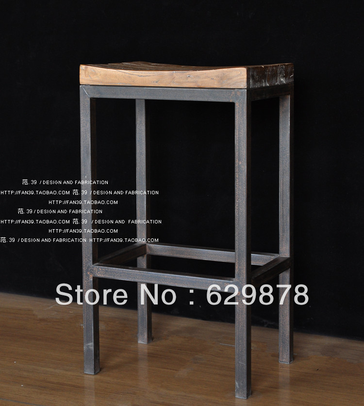 Special offer Wrought iron bar counter restoring ancient ways do old chair of table of coffee table do old bar bar chairs(China (Mainland))