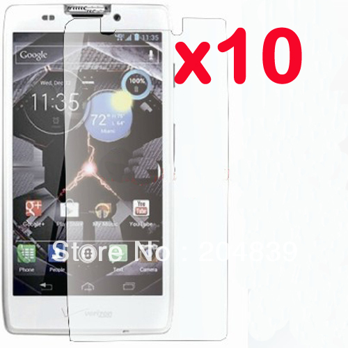 10X New CLEAR LCD Screen Protector Guard Cover Film For Motorola Droid RAZR HD XT925