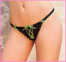 2015 New Arrival Brand Womens G String Thongs Sexy Panties Black Lady Underwear Briefs Tanga