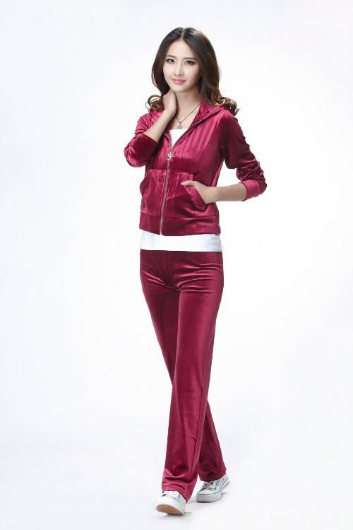 женщины и спортивные костюмы Корея бархатный комплект костюм женщин, бренда одежды, женские спортивные костюмы