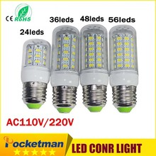 Buy 24/36/48/69Leds E27 E14 LED Light Lamp AC 110/220V SMD5730 Led Corn Bulb Lighting Projector Lamp E27 Led Bulb lights for $1.29 in AliExpress store