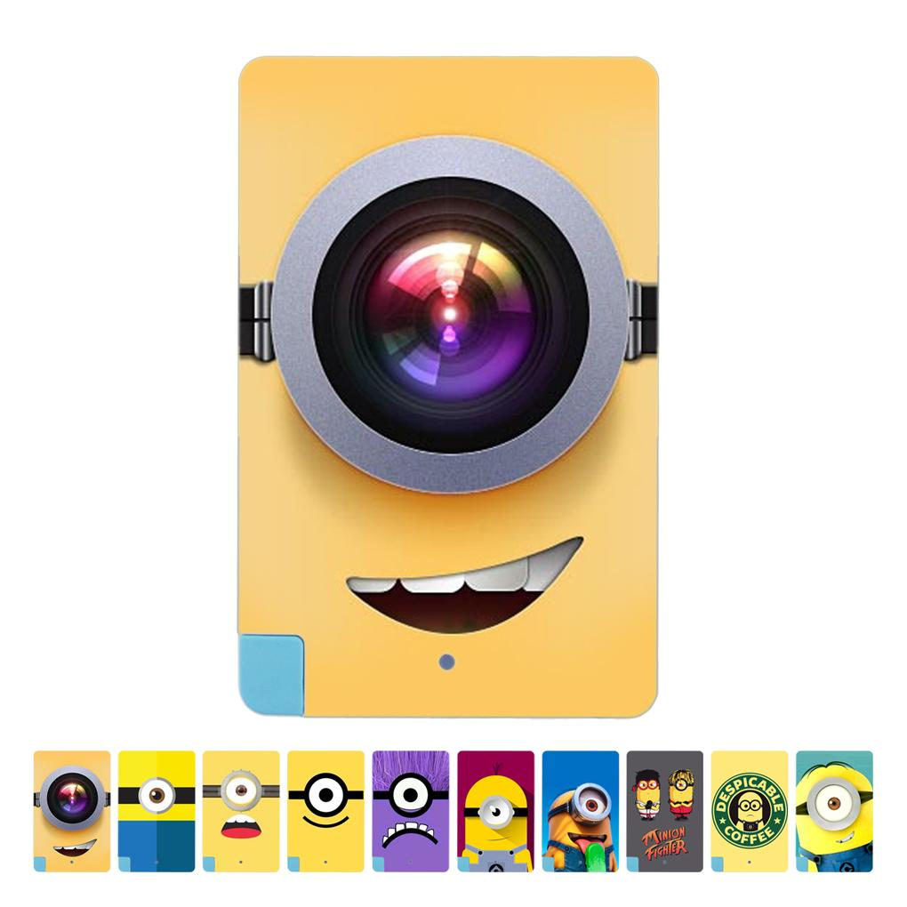 New hot fashion Despicable me yellow minions cartoon patterns power bank 2600mAh charge for samsung etc android phone Elenxs(China (Mainland))