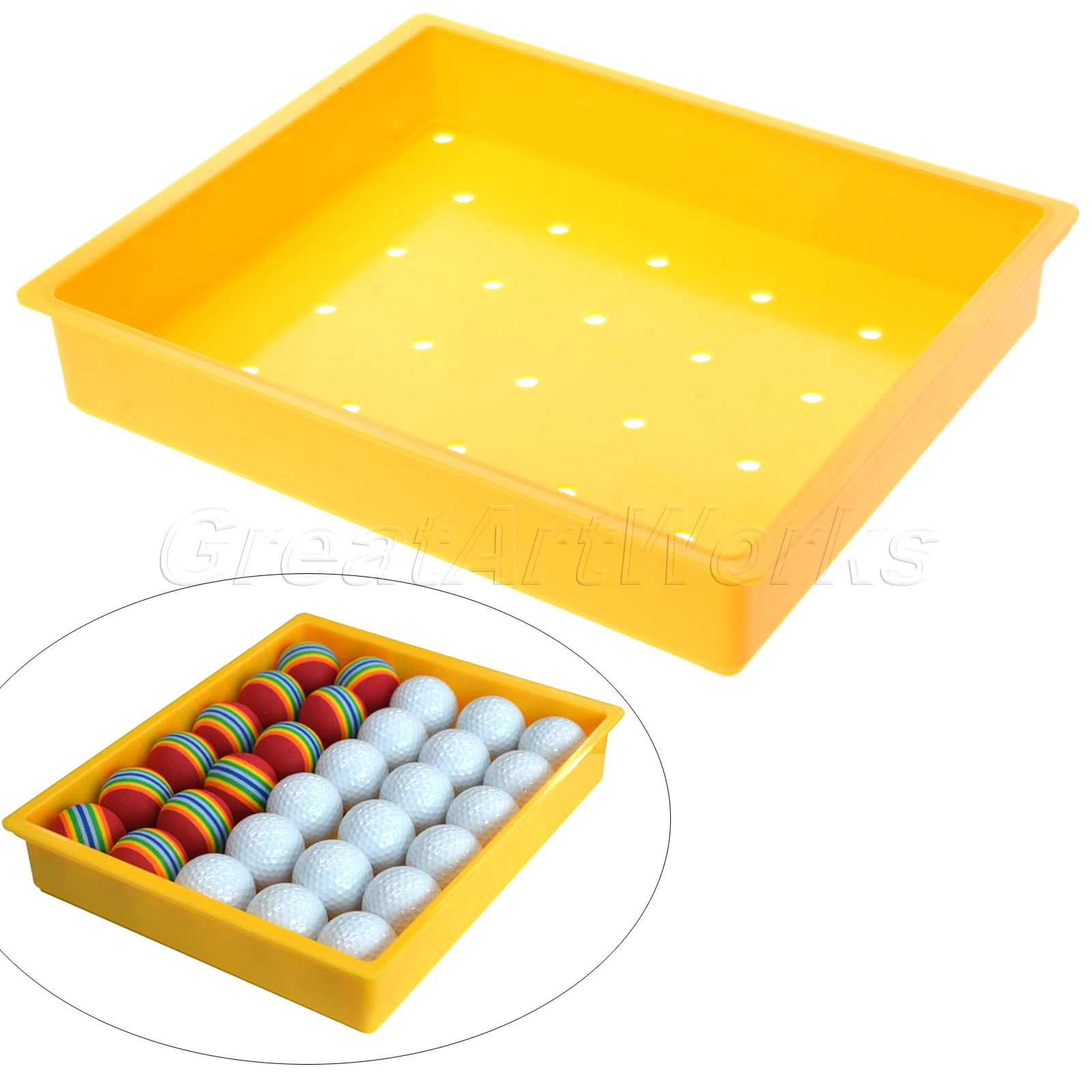2016 1Pc Golf Ball Box Container New specials golf Ball bags high-grade Plastic material package Ball Tray Golf Range Ball Box(China (Mainland))