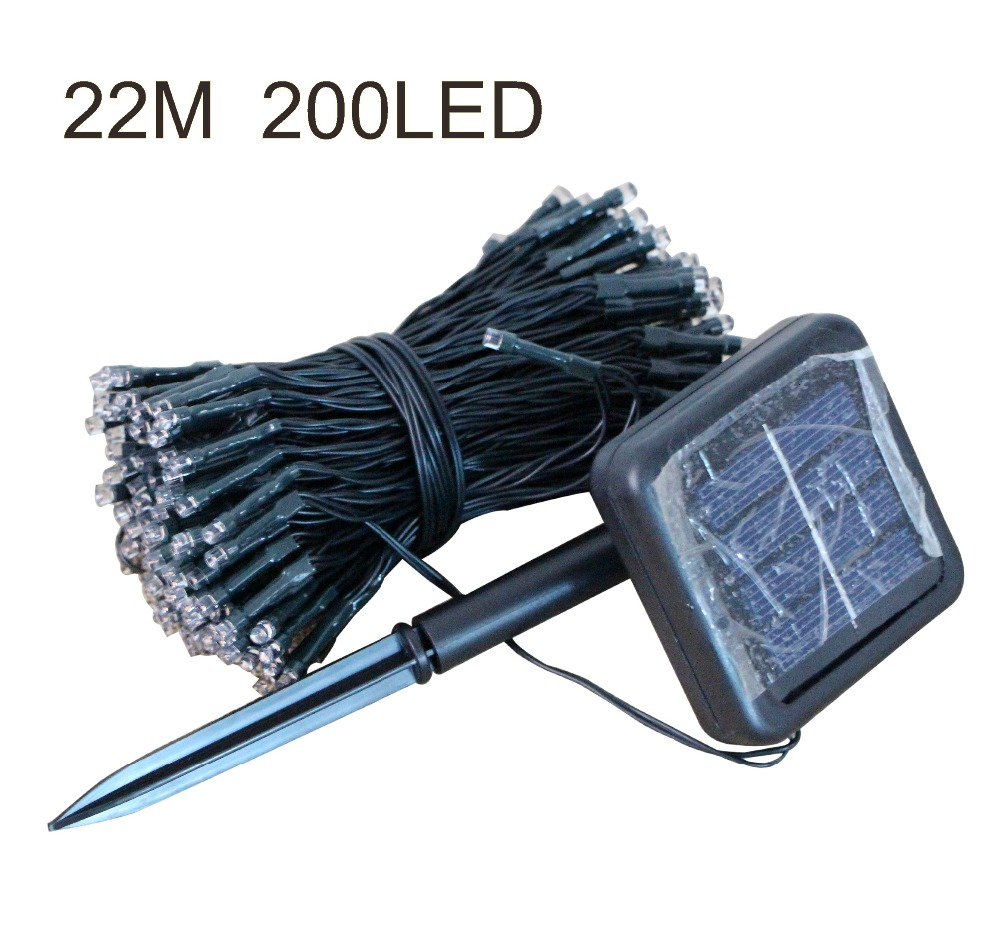200 LED Christmas Lights bulb solar led String Lights fairy Xmas 22M Waterproof Outdoor Garden ...