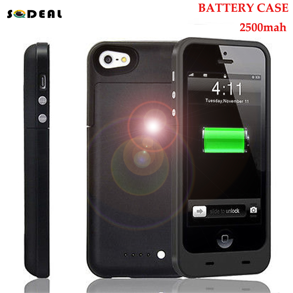 New 2500mAh USB Portable External Extra Backup Battery Charger Power Bank Powerbank Case Cover Pack for iPhone 5 5S w/ 4 LED(China (Mainland))
