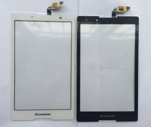 For Lenovo Tab2 Tab 2 A8-50F A8-50LC Touch Screen Panel Digitizer Sensor Glass Black and white color  in stock free shipping(China (Mainland))