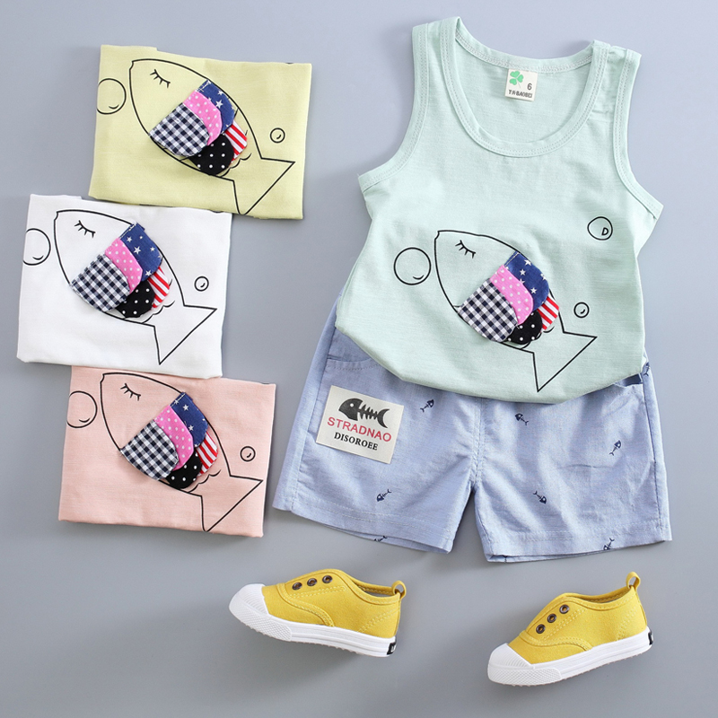 Children Clothing Boy Set Summer Cotton Baby Girls Clothing Kids Clothes Brand Sport Suit Tshirt +Shorts 0-4 years(China (Mainland))