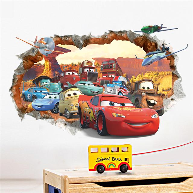 Автомобиль через стены стикеры для детей номеров мальчика сайт мурал искусства дети главная детская детская искусства настенной росписи