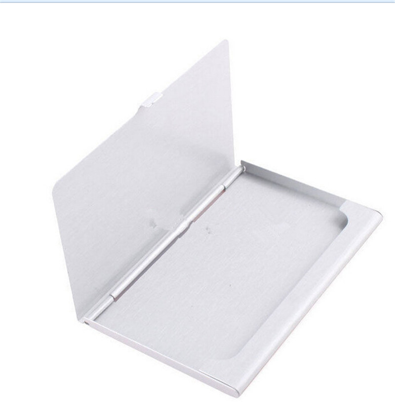 CHEAP Business ID Credit Card Case Metal Fine Box Holder Stainless Steel Pocket 9.3x5.7x0.7cm(China (Mainland))