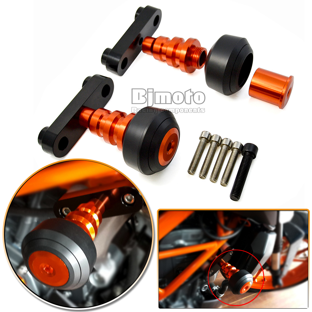 FS KT003 OR New font b Motorcycle b font Aluminum Orange Motorbike Left and Right font