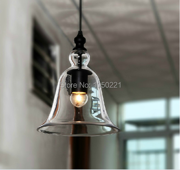 American Country Style Trumpet Glass Pendant Lights Vintage Retro Pendant Lamps Free Shipping(China (Mainland))