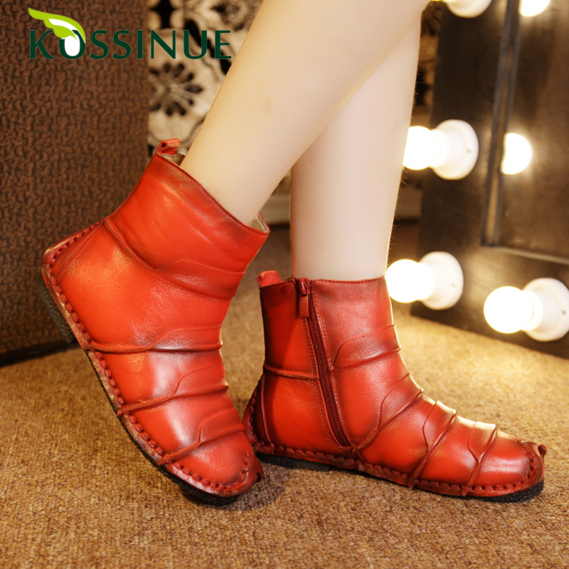2015 Genuine leather women winter cotton-padded shoes boots national snow boots woman thermal boots platform winter shoes boots <br><br>Aliexpress