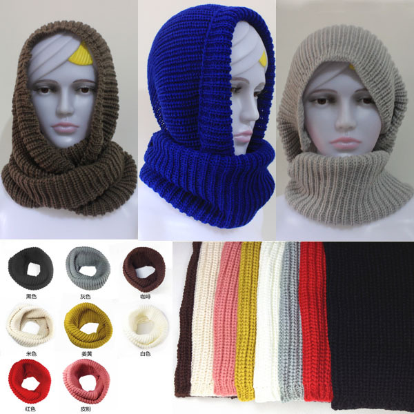 New hot! fashion style Unisex Winter knitting Wool Collar Neck Warmer woman Ring Scarf Shawl,hijabs for women men(China (Mainland))