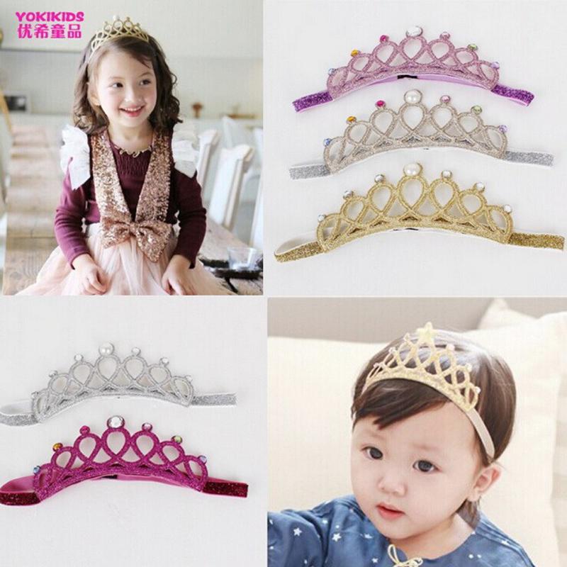 New Crown Tiara Baby Girls Headband Glitter Hairband Baby Princess Head Wear Fashion Cute Princess Headband Hair Accessories(China (Mainland))