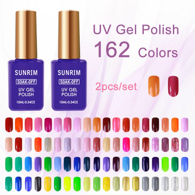 Free Shipping Sunrim 15ml UV Gel Nail Polish Long-Lasting Nail Gel Peel Off Soak-off LED Lamp Cosmetic Hot Color Gel Polish(China (Mainland))