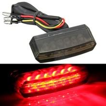 Motorcycle 6 LED 12V Rear Number License Plate Light Red Lamp E-mark E11/SAE/DOT(China (Mainland))