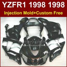 Buy Flat black motorcycle fairings kit YAMAHA 1998 1999 YZFR1 YZF R1 YZF1000 98 99 fairing parts W36U for $399.00 in AliExpress store