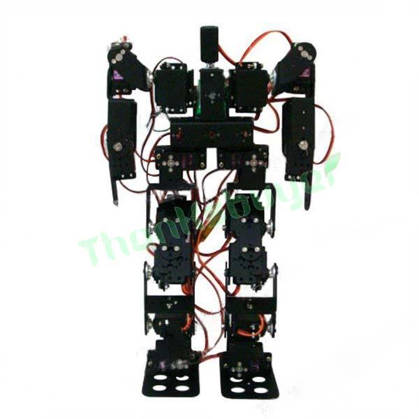 17DOF Humanoid Robot Platform Biped Robotic Educational Robot Kit Servo Bracket Ball Bearing with Metal Servo Horn(China (Mainland))
