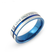 Full USA size Stainless Steel Wedding Bands Couple Rings Korean Jewelry Lovers, his and hers promise ring sets For men and women