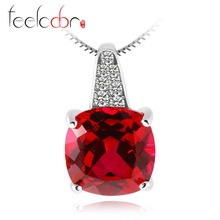 Jewelrypalace 4.99ct Pigeon Blood Red Ruby Pendant Solid 925 Sterling Solid Silver Square Cut Engagement Wedding Fine Jewelry(China (Mainland))