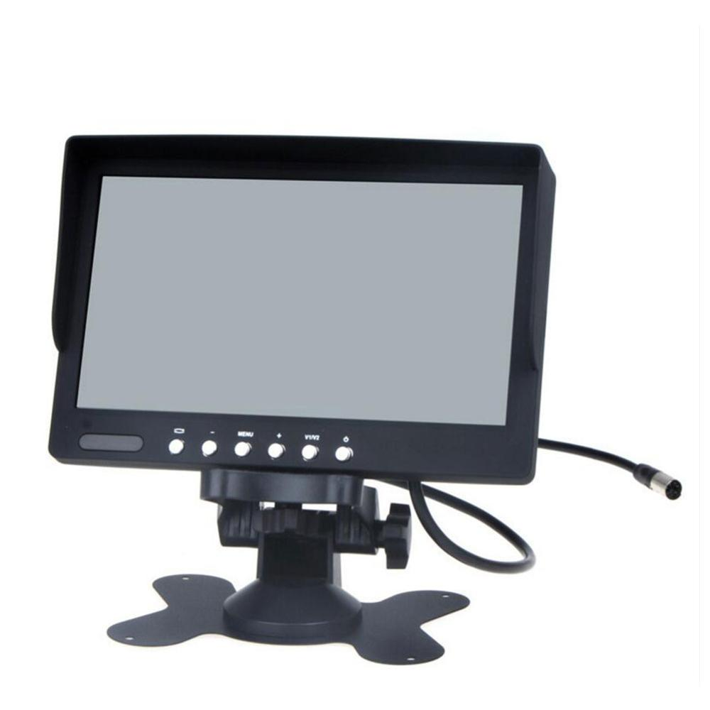 7 Inch LCD Screen Display Car Monitor Portable Color Rear View Screen In Car Support Car DVD/VCD/GPS/other Videp Equipment