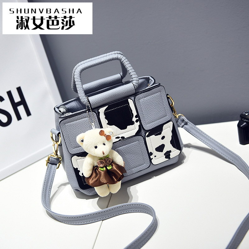 Lady Famous Brand Shoulder Bag Designer Handbags High Quality 2016 Cow Decoration Flap Bags Lolita Style Girl Messenger Bag(China (Mainland))
