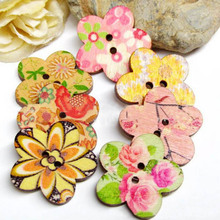 Hot Sale 2 Hole Wooden Buttons Fit Sewing and Scrapbook Card Making 25mm (China (Mainland))