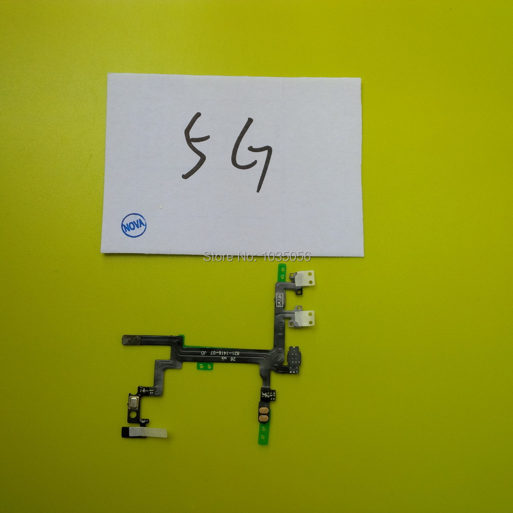 5Pcs/Lot 5G Power Button Ribbon For iPhone 5 Switch on/off Flex Cable Repair Parts ; Free Shipping