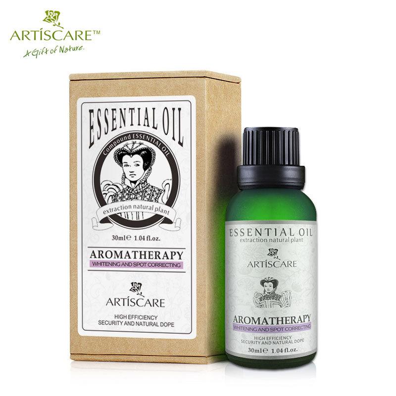 ARTISCARE 100% Natural do Óleo Essencial 30 ml Rosto Whitening e Spot Anti Ilumine facial Cuidados Com A Pele Óleo de Massagem SPA de aromaterapia