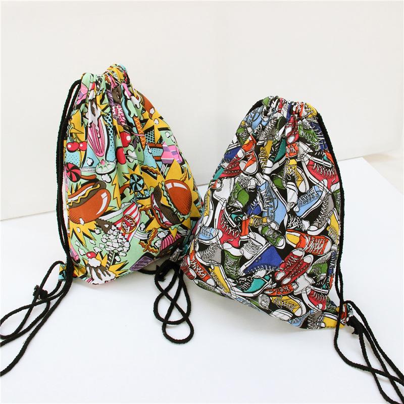 Hamburg Printing Sail Cloth Shoes Original Beam Port Drawstring Back Female Backpacks<br><br>Aliexpress
