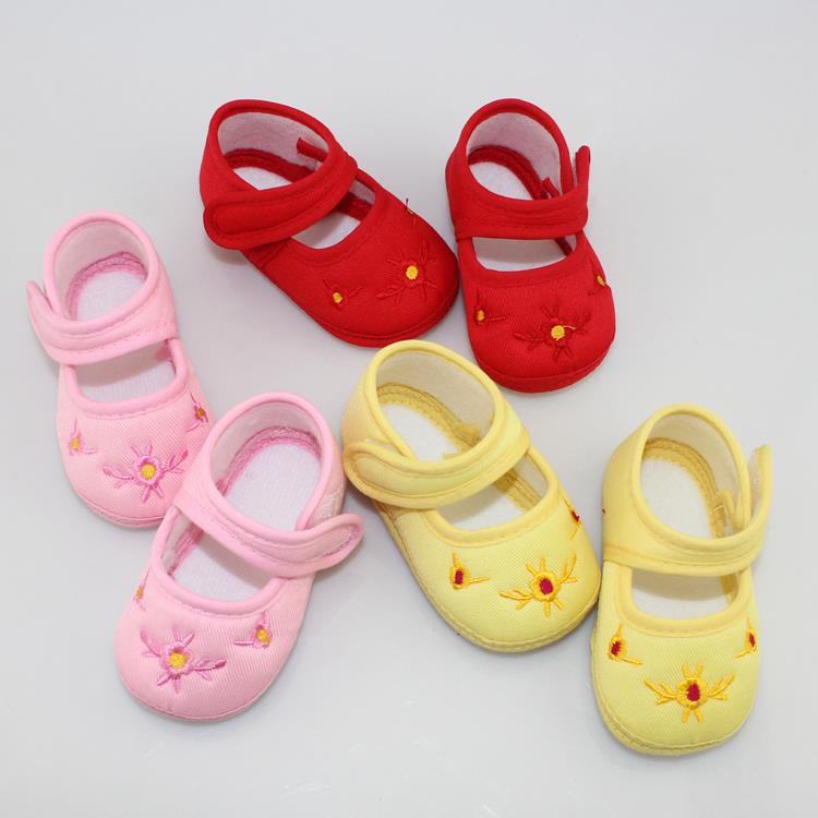 Retail 2016  Promotion Baby Shoes Kids Cotton First Walkers Skid Proof Sapato Infantil Baby Girls Shoes Boys Free Shipping