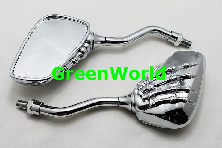 Motorcycle E-Bike/Electric Bicycle Scooter Remodeled Mirror / Refitted Skull 8MM&10MM scratch - Greenworld Vehicle Co Ltd store