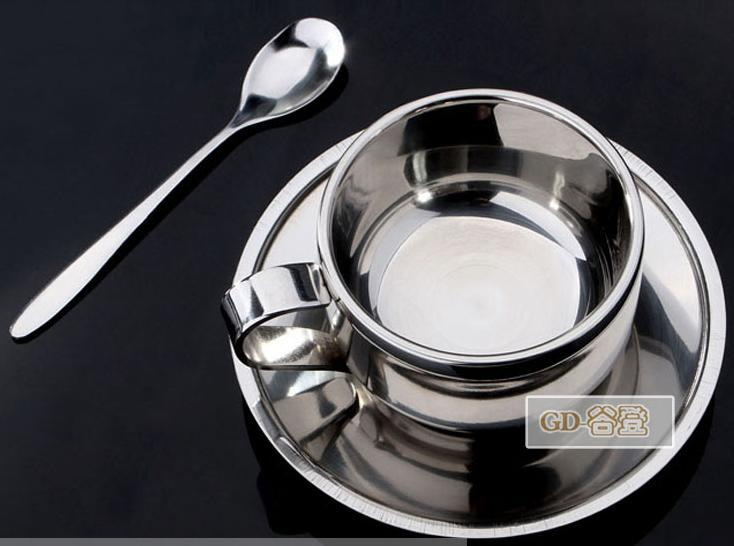 3pcs set Coffee cup milk cup snack cups of coffee cup set of spoon with supporting