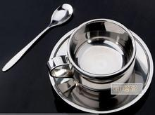 3pcs/set  Coffee cup milk cup snack cups of coffee cup set of spoon with supporting disc assembly free shipping
