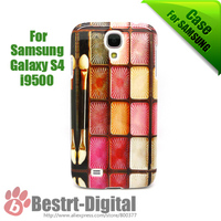 10Pcs/Lot, Shining Cosmetics Suit, Hard Cover Case for Samsung Galaxy S4 i9500, Best offer For Samsung Galaxy S4 Case