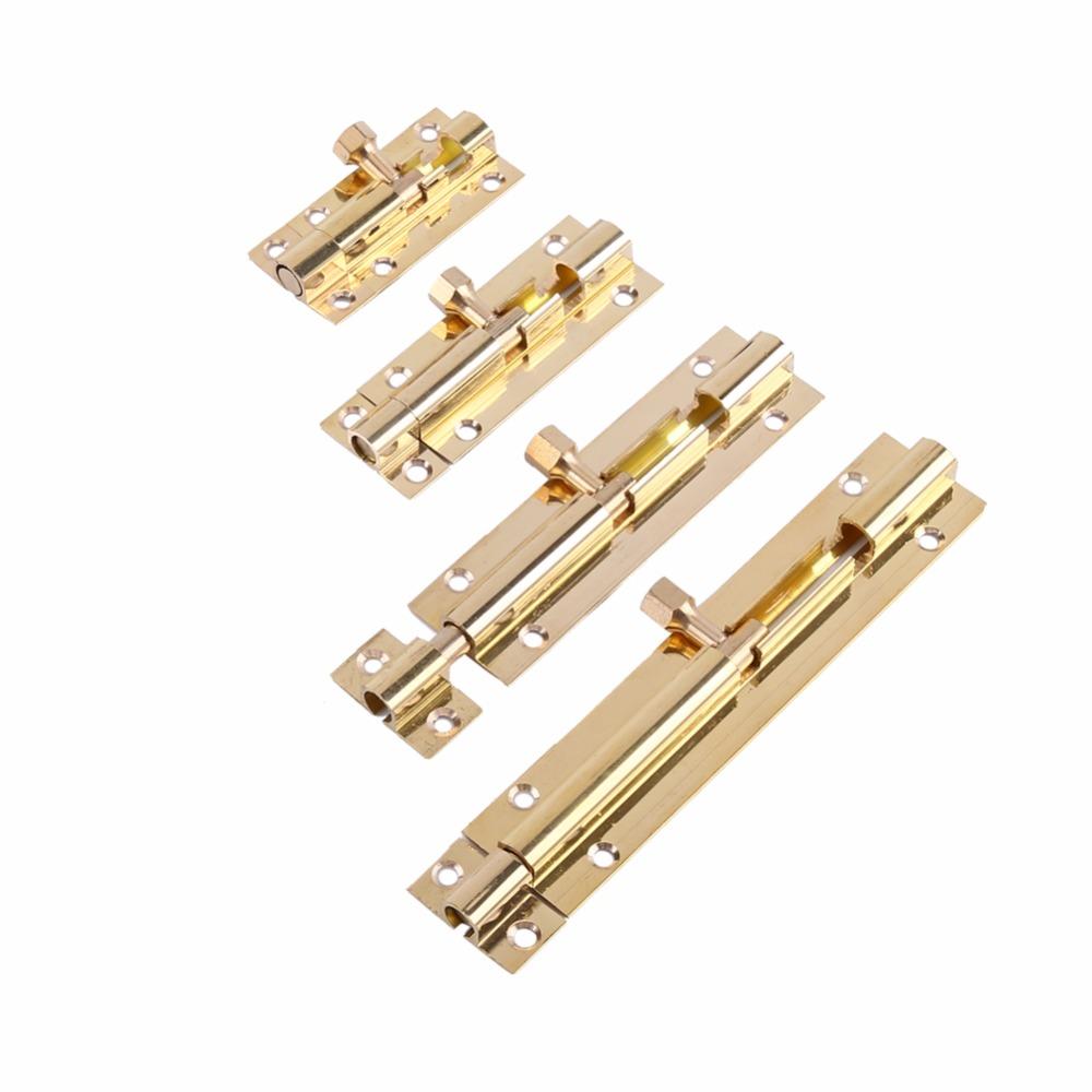 4 size Brass Professional Lock Picks Sliding Window Door Catch Lock Bolt Latch Barrel Home Gate Safety Hardware & Screw Latch(China (Mainland))