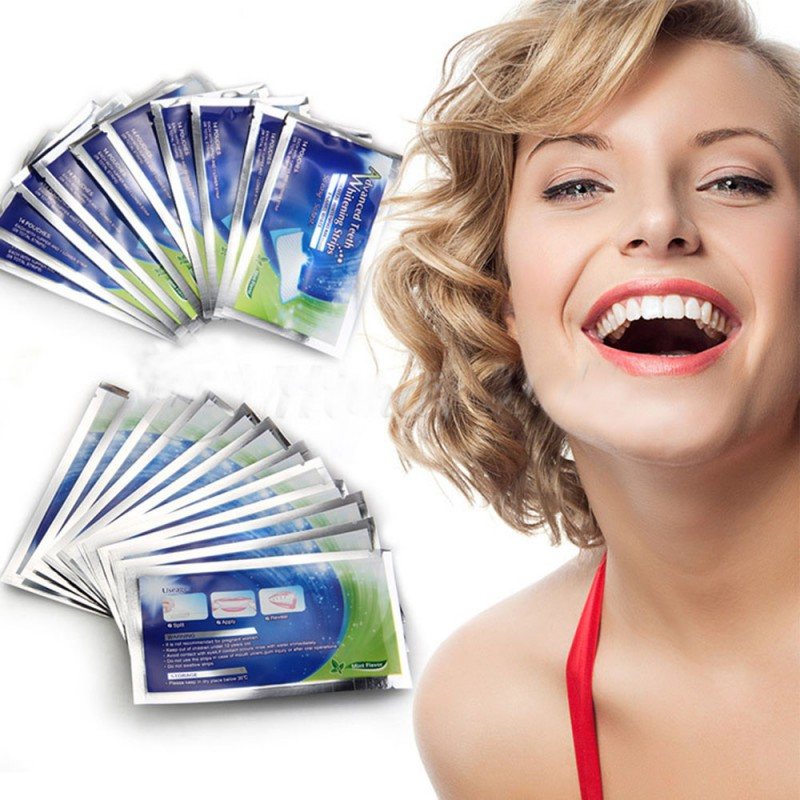 28 Pcs Home Teeth Whitening Strips,2016 New Professional tooth whitening products Gel Strips With Free Shipping(China (Mainland))